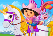 baby-dora-on-the-unicorn-king